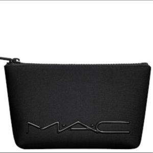 MAC Cosmetics Black Neoprene Makeup Bag